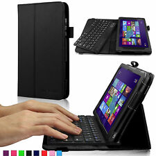 Folio PU Removable Bluetooth keyboard Case Cover For DELL Venue 8 Pro +OTG Cable