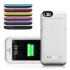 For iPhone 5 5S Rechargeable 2200mAh External Travel Backup Battery Charger Case