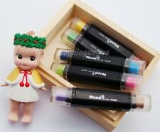 Ink Pad Pen Rubber Stamps Craft Paper Fabric Wood Two-colours Card DIY deco Pink