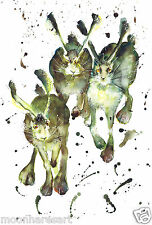 HARES BUNNIES & RABBITS PRINTS FROM MOON HARES ART PAINTINGS & PRINTS