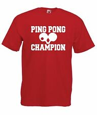 PINGPONG funny game sport NEW Boy Girls Kids size T SHIRT TOP Age 1-15 Year old