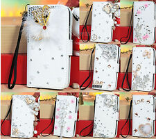 New For Samsung Galaxy S3 SIII i9300 Stand Flip Leather Wallet Bling Case Cover