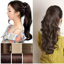 16-22 INCH Long Ponytail Curly/Wavy/Straight hair extensions clip-on ladys love
