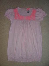 NEW Girls Gorgeous NEXT Pink Embroidered Top Age 9, 10, 11, 12 Years *FREE P&P*