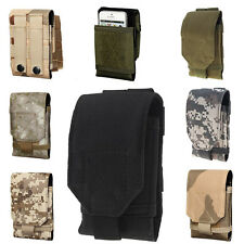 Universal Army Camo Bag For Cellphone Hook Loop Belt Pouch Holster Case ZY