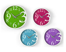 """""""Brights"""" Wall Clock 23cm Ideal for Kitchen, Bedroom & Dining Room"""