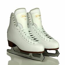 Graf 500 Leather Girls/Womens Figure Blade Ice Skates- White Size