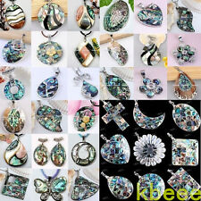1PC Gorgeous Natural Abalone Shell Beads Charm Pendant Jewelry For Necklace DIY