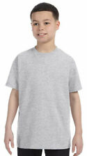 Jerzees Boys Heavyweight Ribbed Seamed Crewneck Collar Bottom Hems T-Shirt. 29B