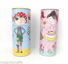 Rachel Ellen Childrens Swivel Money Boxes, Tins - Boy - Girl  Pink Blue FUN GIFT