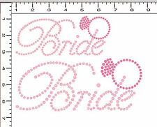 DIY Pre-Cut Sticky Flock Hotfix Rhinestone Transfer Template Set Bridesmaid NEW