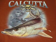 New Authentic Calcutta S/S T-Shirt w/Pocket & Yamaha Snook Graphic