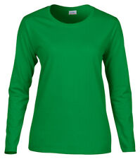 Gildan Women's Missy Fit Long Sleeve Double Needle Hemmed Cuffs T-Shirt. 5400L