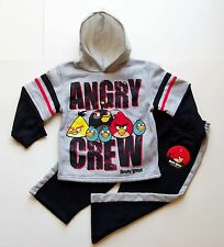 ANGRY BIRDS Hoodie Sweatshirt & Pants Track Set Outfit NWT Boys Size 4 or 5  $38