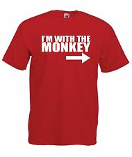 IM WITH MONKEY funny present gift boys girls kids new t shirt size age 1-15 year