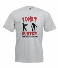 ZOMBIE HUNTER funny zombie game NEW Boy Girls Kid size T SHIRT TOP Age 1-15 Year
