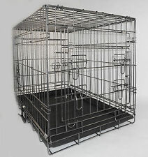 BULL BREED. DUAL COATED 3 DOOR UP/OVER DOG CAGES ALL SIZES. FREE DIVIDER & QUILT