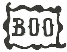 10 Boo & Frame 11x8.5cm sizzix die cuts halloween spooky party card making craft