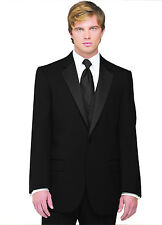 Sizes 35-64 Long. 6-Piece Complete Tuxedo Package w/Flat Front Pants, Vest & Tie