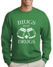 Mugs Not drugs Sweatshirt For St.Patricks Day Pugs Patty's Party Paddy's Green