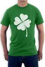 Faded Shamrock T-Shirt Distressed Lucky Clover For St Patricks Day IRISH Patty's