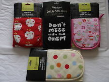 100 % COTTON OUTER DOUBLE OVEN GLOVES MULTI POT HOLDER BAKING KITCHEN COOKSMART