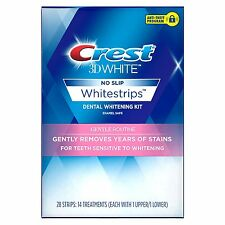 CREST 3D WHITE GENTLE ROUTINE WHITESTRIPS - TEETH WHITENING STRIPS - AUTHENTIC
