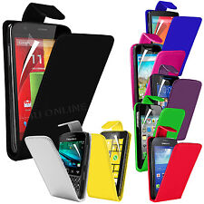 Premium PU Leather Flip Case Cover Pouch & LCD Film For Various Handsets