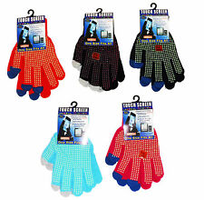 Unisex Thermal Touch Screen Phone Magic Smart Gripper Gloves One Size -NEW-GLOVE