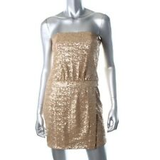 Laundry by Shelli Segal Gold Sequined Strapless Party Cocktail Dress –New