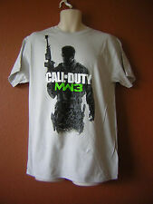 Call Of Duty Modern Warfare 3 MW3 Gunner Soldier Black White Logo Gray T Shirt