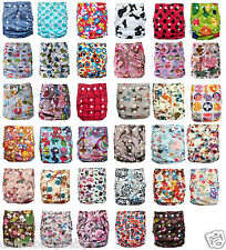 New Infant Baby Pocket Cloth Diaper One Size Reusable Washable Nappy Print Cover