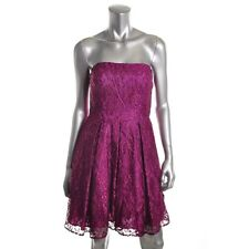 Aqua Purple Lace Strapless Party Cocktail Formal Prom Dress - NEW