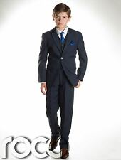 Boys Wedding Suit, Boys Prom Suit, Navy, Grey, Page  Boy Suits, Age 1 - 12yrs
