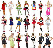 Ladies Womens Fancy Dress Costume Fantasy Storybook Cheerleader Trinians Racer