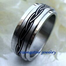 Men CELTIC Endless Knot Stainless Steel Wedding Band Ring Size 9.5,10.5,11,12,13
