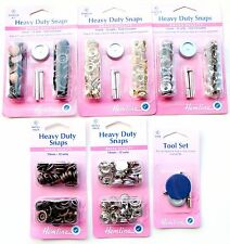 Heavy Duty Snap Fasteners ♥ Snaps / Poppers / Press Studs ♥ 15mm x 12 Sets
