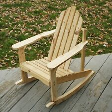 Junior Kids Adirondack Rocking Chair, Unfinished or Available in Many Colors