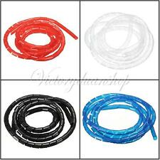 16 Feet 5M Spiral Tube Flexible Cord Cable Wire Organizer Wrap Management Hiding