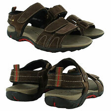 NEW MENS SUMMER SPRING BEACH WALKING SANDALS ANKLE STRAP VELCRO HOLIDAY UK SIZES