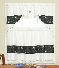 """Complete Kitchen Curtain Set 3 Pc Tier Curtains & Tailored Swag 30""""x36""""/60""""x36"""""""