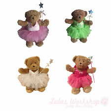 """Fairy Costume suitable for 16"""" Build a Bear White Pink Green Tutu Wand Wings etc"""