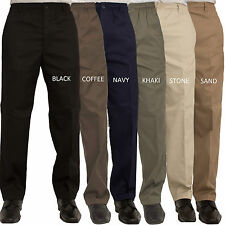 Mens Carabou Elasticated Waist Work Casual Plain Rugby Trousers Pants Big Sizes