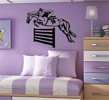 HORSE JUMPING WALL ART DECAL STICKER CHOOSE FROM 21 DIFFERENT COLOURS