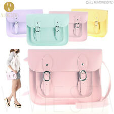 PASTEL BABY CANDY Faux Leather Small Crossbody VINTAGE SATCHEL School Bag Purse