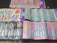 Happy Birthday Giant Party Banners Boy Girl Choice Designs 9ft/2.7m Banner