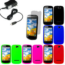 Silicone Gel Skin Cover Case For Blu Dash 4.5 LCD Home Charger