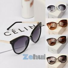 New Women's Retro Sunglasses Bat Shaped Rivet Metal Frame Eyeglasses Spectacles