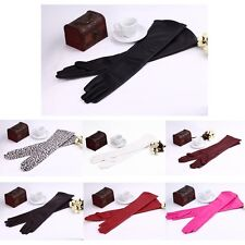 Women Lady Arm Long Genuine PU leather Evening Finger Gloves Mittens ON SALE