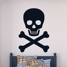 Skull And Cross Bones Wall Sticker Pirate Style Wall Decal Art
